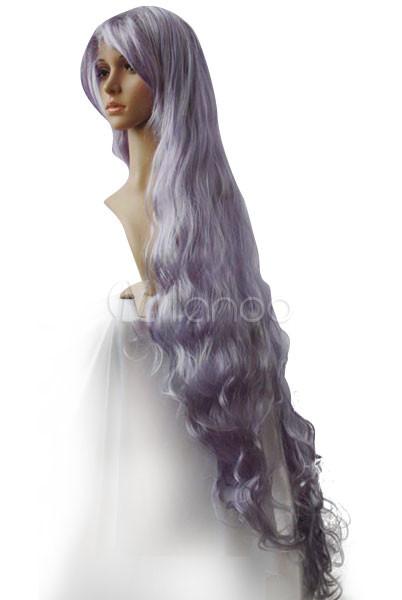 Women s 120cm Silver Purple Long Curly Cosplay Wig - Milanoo.com f4105dcc0