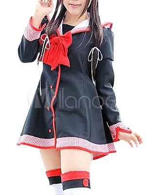 Black Long Sleeves School Uniform Halloween