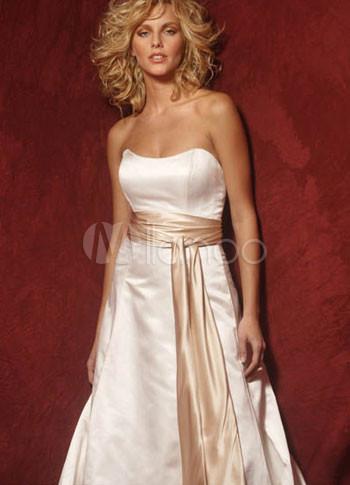 Vestidos de raso para novia