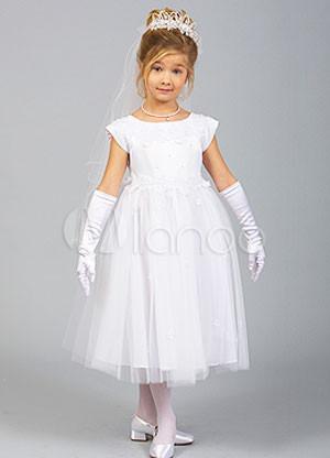 vestidos de primera comunion organza