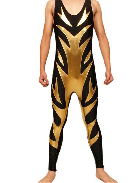 Halloween Shiny Metallic Wrestling Singlet Halloween