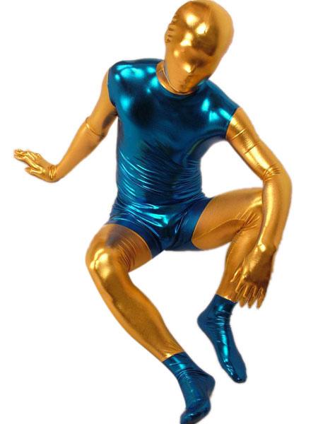 Shiny Metallic Zentai Suit Halloween  Full Bodysuit Halloween