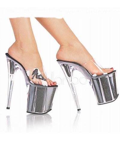 dd2375846 Zapatillas de PVC con plataforma de tacón de 20 cm - Milanoo.com