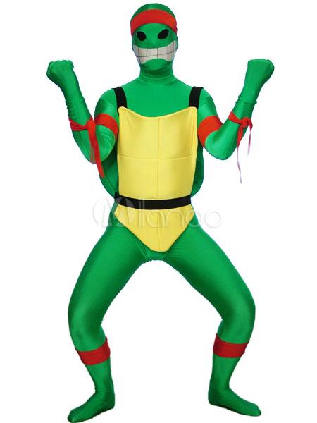 Halloween Green Teenage Mutant Ninja Turtles Spandex Lycra Super Hero Costume Halloween