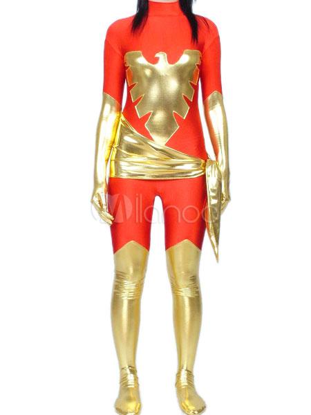 Halloween X Men Phoenix Catsuit Spandex Superhero Costume Cosplay Halloween