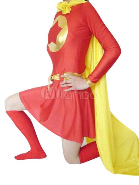 Halloween Red Spandex Super Hero Costume Halloween