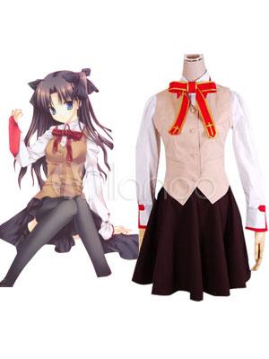Buy Fate Stay Night Tosaka Rin Halloween Cosplay Costume School Uniform Halloween for $82.99 in Milanoo store