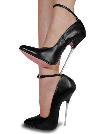 6 3/10'' High Heel Black Cowhide Sexy Pumps - Milanoo.com
