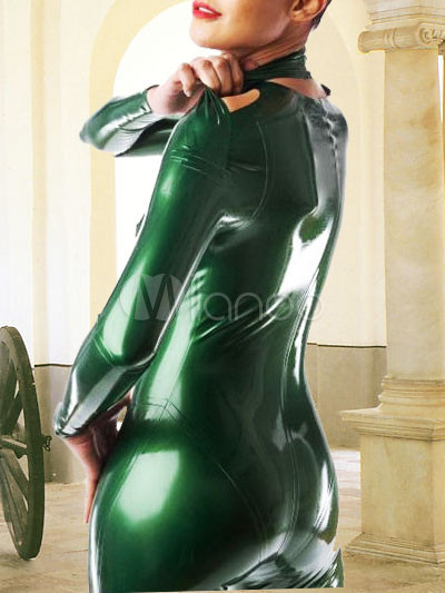 Green Latex Long Sleeves Catsuit Milanoo Com
