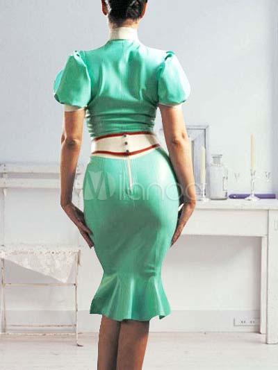 Green Latex Nurse Costume Milanoo Com