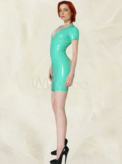 Green Latex Dress
