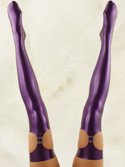 Halloween Purple Latex Stockings Halloween