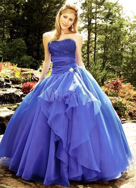 cfffff9df9 Hermoso Vestido de novia de encaje satinado gasa balón vestido para  quinceañera-No.1