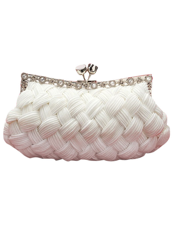 White Satin Wedding Clutch