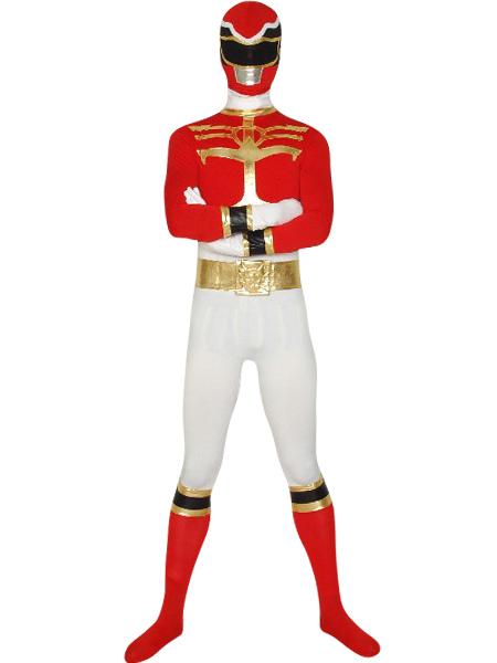 Red Power Ranger Zentai Suit Halloween Lycra Spandex Super Hero Costume  Halloween-No.1 a8092ae24