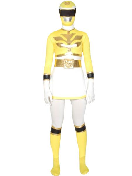 Yellow Power Ranger Zentai Suit Halloween Lycra Spandex Super Hero Costume Halloween