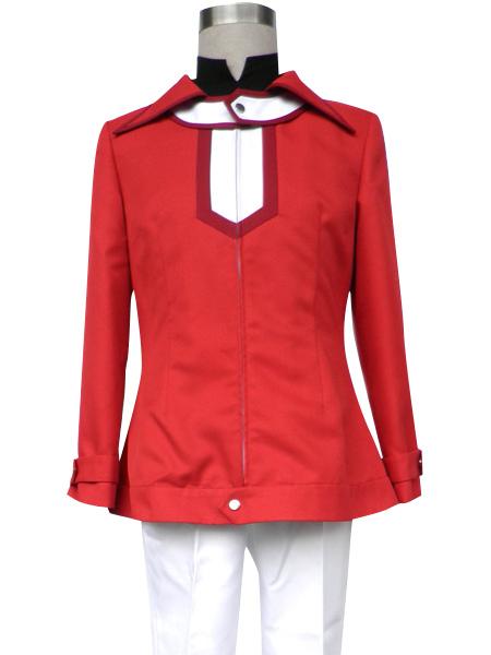Yu-Gi-Oh GX Jaden Yuki Red Jacket Coat Top Cosplay Costume