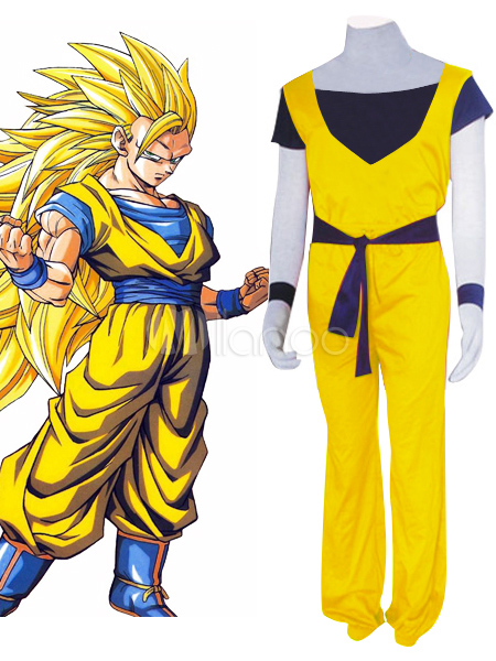 Dragon Ball Son Goku Halloween Cosplay Costume Super Saiyan 3  Halloween