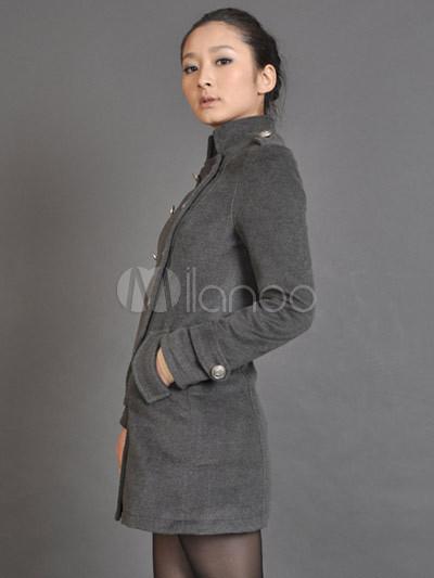 gray cachemire l gant manteau femme. Black Bedroom Furniture Sets. Home Design Ideas
