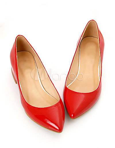 Red Honey Girl Flat Pointed Toe Fashion