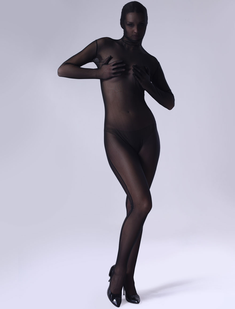 Halloween Zentai Suit Tiffany Black Full Bodysuit Halloween