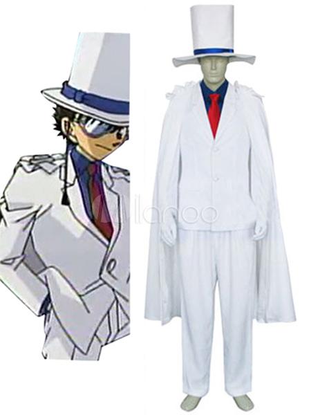 Detective Conan Case Closed Kaito Kid Halloween Cosplay Costume Halloween