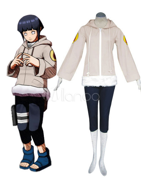 Buy Naruto Hyuuga Hinata Halloween Cosplay Costume Faux Leather Halloween for $38.99 in Milanoo store