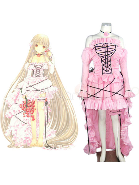 Buy Chobits Chii Halloween Cosplay Costume Pink Lolita Dress Halloween for $111.35 in Milanoo store