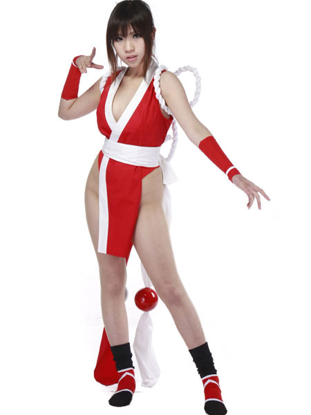 Buy King of Fighter Mai Shiranui Cosplay Costume Halloween for $66.11 in Milanoo store