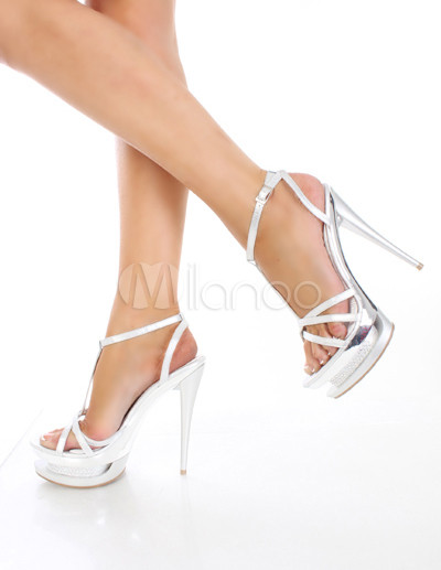 Chaussures à talon aiguille blanches Sexy femme 9XJyhvz