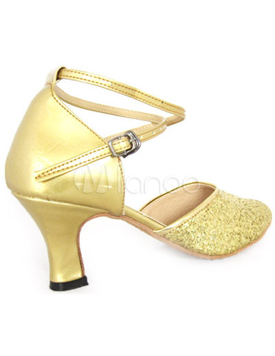 goldene damen tanzschuhe mit fesselriemchen und kitten heels. Black Bedroom Furniture Sets. Home Design Ideas