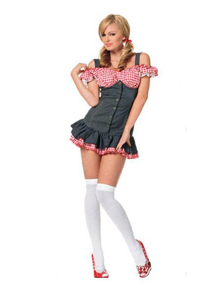 Halloween Nerd Costume Red Sexy Women's School Girl Costume Halloween