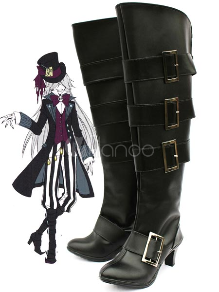 Black Butler Kuroshitsuji Undertaker Cosplay Shoes Halloween