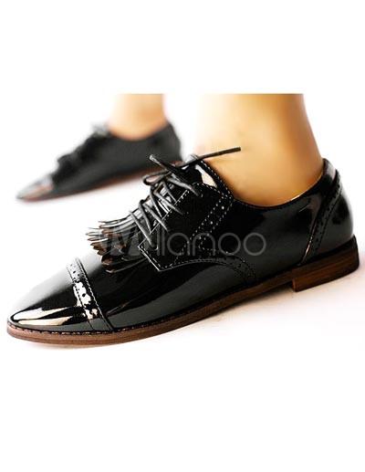 Mujer rfv7Ar Zapatos Negro Alto Charol Wqqutpsx Oxford 45   Talón CW6FFxXrwq 38912f6595d3