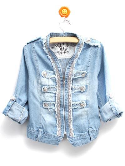 0577722b485b0 Luz azul moda Jeans Denim mujer chaquetas - Milanoo.com