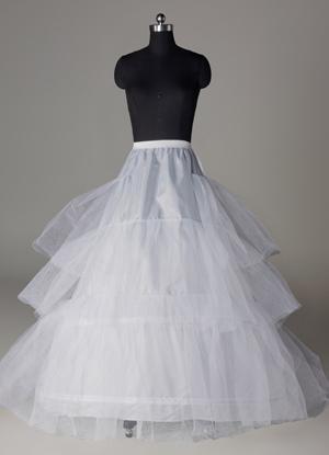 White Tulle Full Gown Slip Bridal Wedding Petticoat