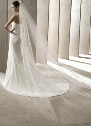 White One-Tier Tulle Wedding Veils (300*200cm)