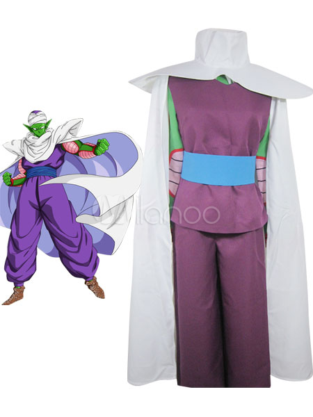 Dragon Ball Piccolo Halloween Coaplay Costume Flute Familiar IMP Uniform Cloth Combined Leather  Halloween