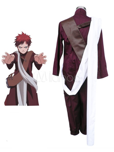 Buy Naruto Gaara 3th Cotton Polyester Cosplay Costume Halloween for $56.69 in Milanoo store