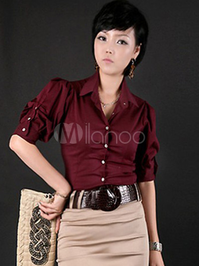 Burgundy Shirts For Womens