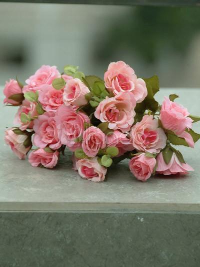 Gorgeous Mariah Pink Rose Single Silk Flower Milanoo