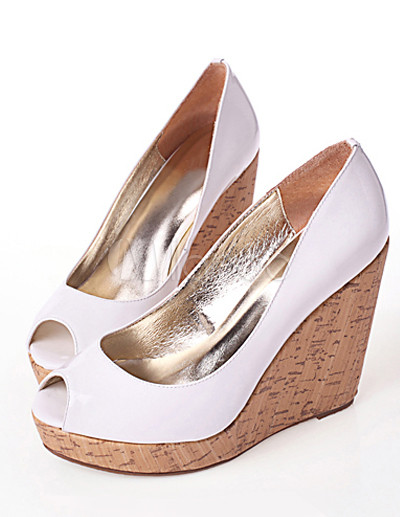 Ladies Shoes Bellissimo Fife Peep Toe Wedge Black, White and Black Size US Email to friends Share on Facebook - opens in a new window or tab Share on Twitter - opens in a new window or tab Share on Pinterest - opens in a new window or tab.
