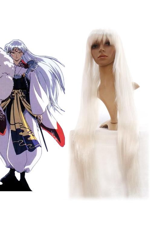 InuYasha Sesshoumaru Halloween Cosplay Wig Silver Cosplay Wig Halloween
