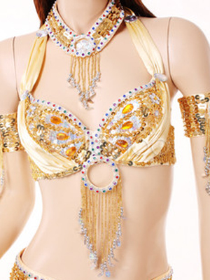 Belly Dance Costume Colorful Beaded Bollywood Dance Bra