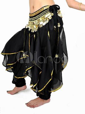 Skirt Belly Dance Costume Chiffon Bollywood Dance Bottom