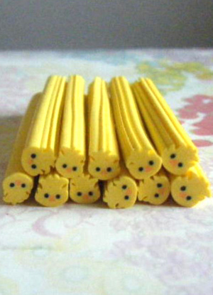 Cute Yellow Animal Nail Stickers Cheap clothes, free shipping worldwide