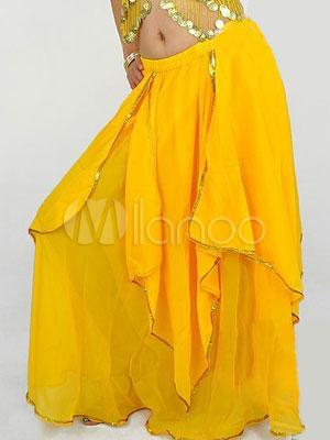 Buy Skirt Belly Dance Costume Chiffon Bollywood Dance Bottom for $13.79 in Milanoo store