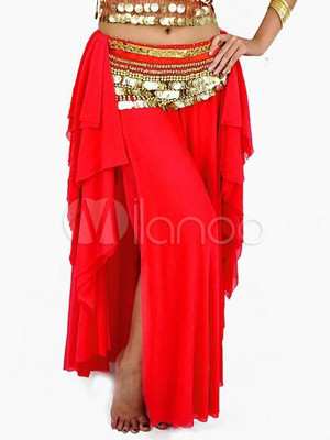 Skirt Belly Dance Costume Red Beautiful Bollywood Dance Bottom