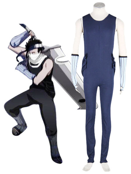 Naruto Zabuza Cosplay Costume 65 Percent Cotton 35 Percent Polyester  Halloween