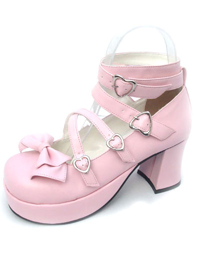 High Heel Platform PU Womens Lolita Shoes